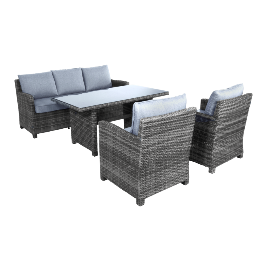 Dining Loungeset - Jive Rock - Grijs - Wicker - Lesli Living-1