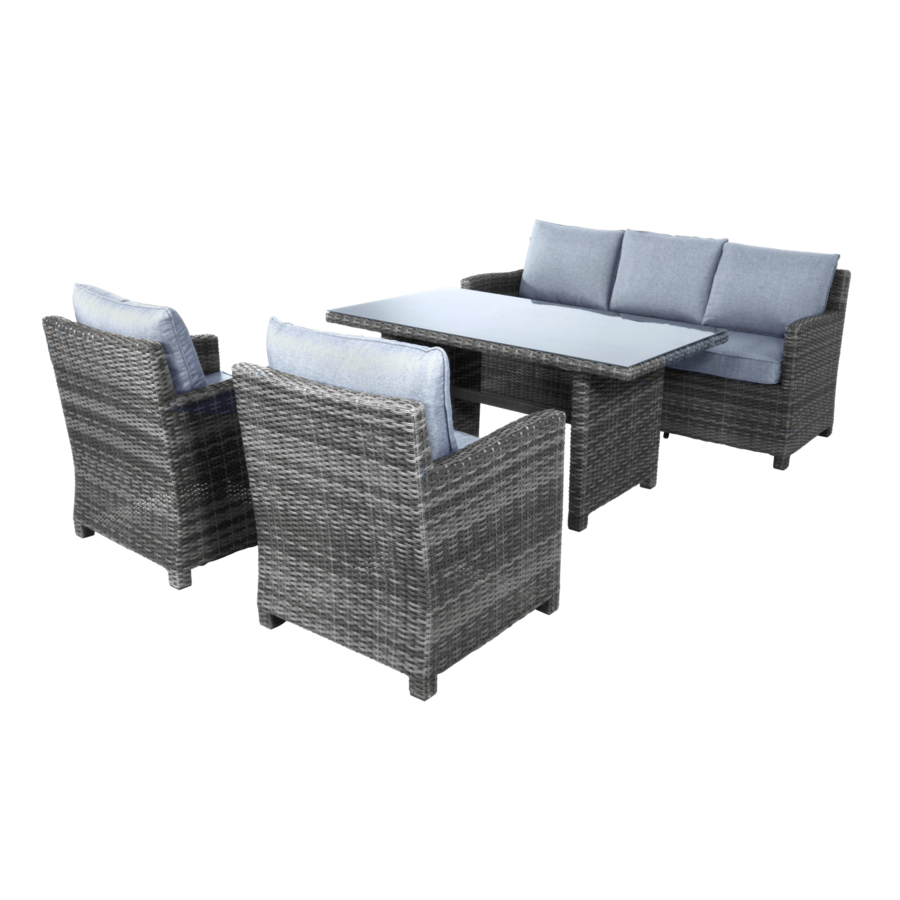 Dining Loungeset - Jive Rock - Grijs - Wicker - Lesli Living-6