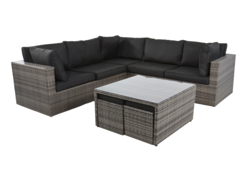 Hoek Loungeset - Lugo Stone - Wicker - Lesli Living