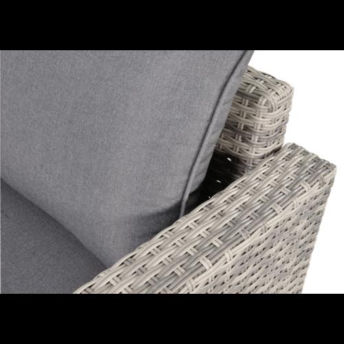 Lesli Living  Chaise Longue Loungeset - Valencia - Grijs - Wicker - Lesli Living