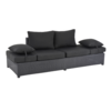 Lesli Living  Loungebank - Roma - Zwart - Wicker - Lesli Living