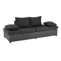 thumb-Loungebank - Roma - Zwart - Wicker - Lesli Living-1
