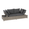 Lesli Living  Loungebank - Roma - Grijs - Wicker - Lesli Living