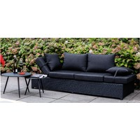 thumb-Loungebank - Roma - Zwart - Wicker - Lesli Living-3