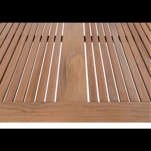 Lesli Living  Tuintafel - Marmaris - Teak/RVS - 152x90 cm - Lesli Living