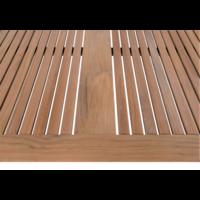 thumb-Tuintafel - Marmaris - Teak/RVS - 90x90 cm - Lesli Living-4