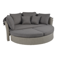 thumb-Zonne Eiland - Wicker - Antraciet - Rond - Lesli Living-2