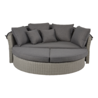 thumb-Zonne Eiland - Wicker - Antraciet - Rond - Lesli Living-6