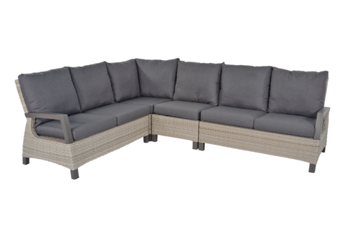 Hoek Loungeset - Prato Mountain - Aluminium/Wicker - Lesli Living
