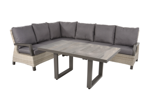 Dining Loungeset - Prato Mountain - Aluminium/Wicker - Lesli Living