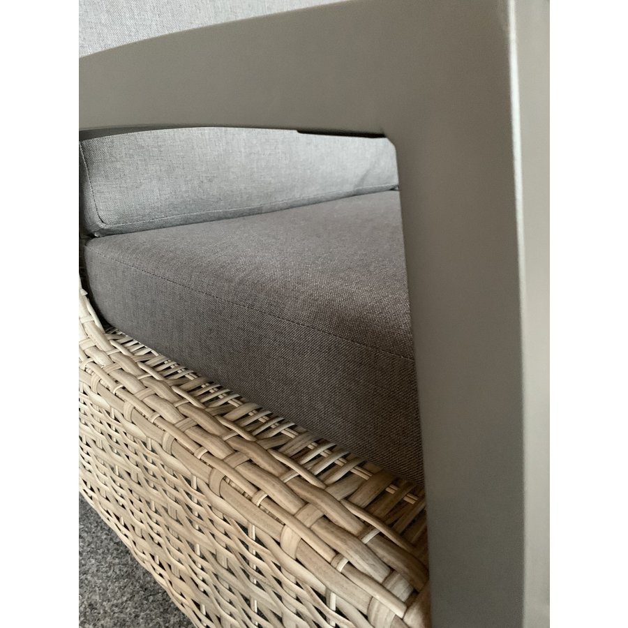Lounge Tuinstoel - Prato Mountain - Aluminium/Wicker - Lesli Living-7