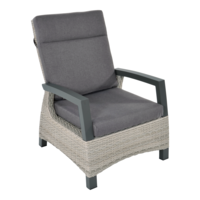Lounge Tuinstoel - Prato Mountain - Aluminium/Wicker - Lesli Living