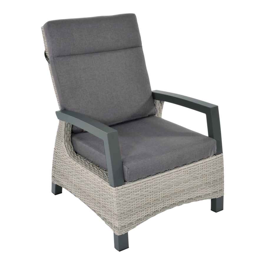 Lounge Tuinstoel - Prato Mountain - Aluminium/Wicker - Lesli Living-1
