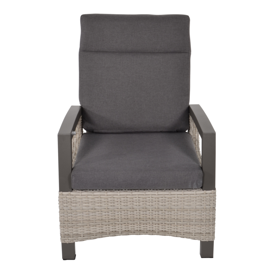 Lounge Tuinstoel - Prato Mountain - Aluminium/Wicker - Lesli Living-2