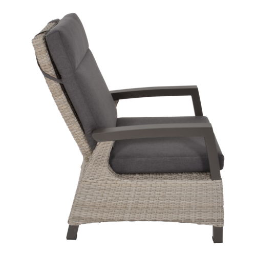 Lesli Living  Lounge Tuinstoel - Prato Mountain - Aluminium/Wicker - Lesli Living