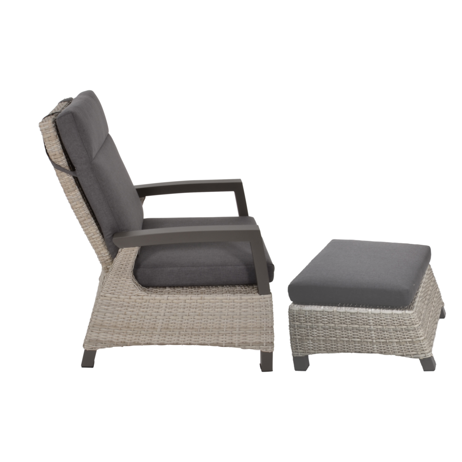 Lounge Tuinstoel - Prato Mountain - Aluminium/Wicker - Lesli Living-4