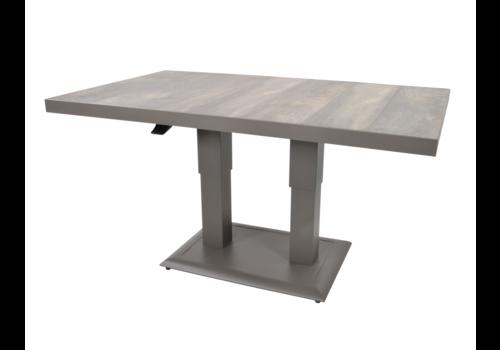 Lounge/Dining Tafel - Prato - Verstelbare Hoogte 50/72 cm - Lesli Living