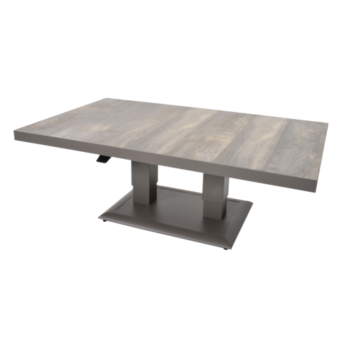 Lesli Living  Lounge/Dining Tafel - Prato - Verstelbare Hoogte 50/72 cm - Lesli Living