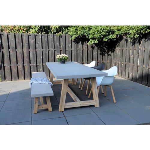 Lesli Living  Dining Tuinbank - Judy - Beton Look - 250 cm - Lesli Living