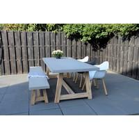 thumb-Dining Tuinbank - Judy - Beton Look - 180 cm - Lesli Living-3