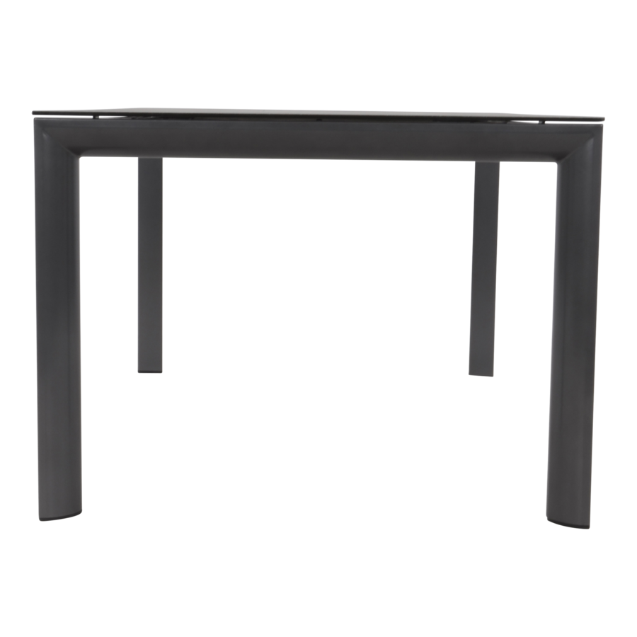 Tuintafel - Mojito Negro - Spraystone - 160x90x74 cm - Lesli Living-6