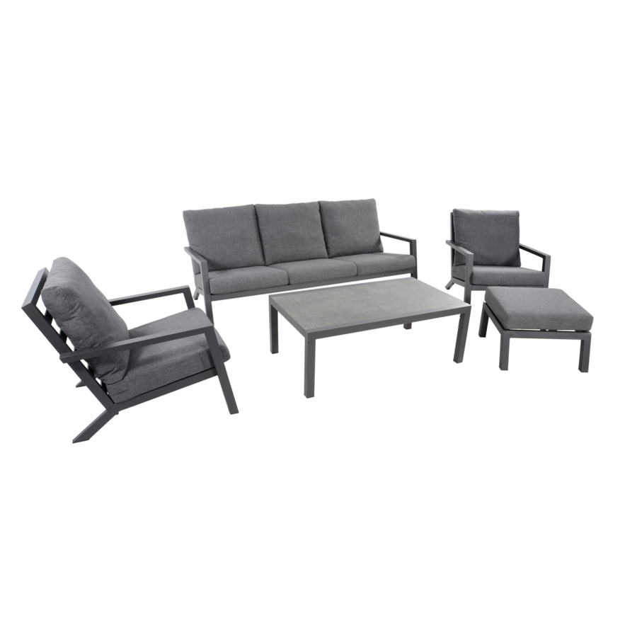 Lounge Tuinstoel - Down Town – Antraciet - Aluminium – Lesli Living-8