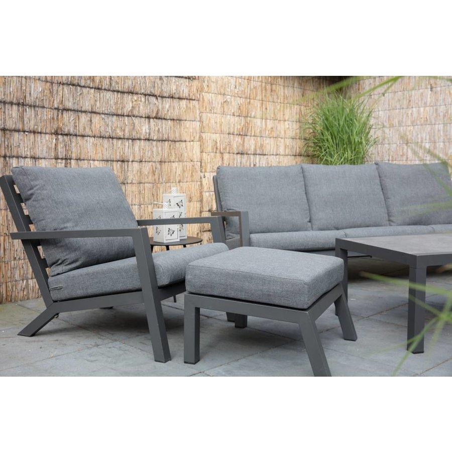 Lounge Tuinstoel - Down Town – Antraciet - Aluminium – Lesli Living-3