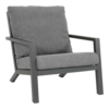 Lesli Living  Lounge Tuinstoel - Down Town – Antraciet - Aluminium – Lesli Living