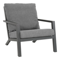 Lounge Tuinstoel - Down Town – Antraciet - Aluminium – Lesli Living