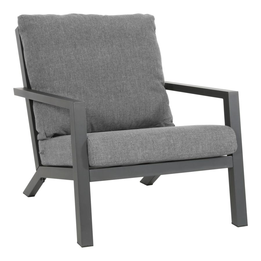 Lounge Tuinstoel - Down Town – Antraciet - Aluminium – Lesli Living-1