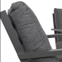 thumb-Lounge Tuinstoel - Down Town – Antraciet - Aluminium – Lesli Living-4