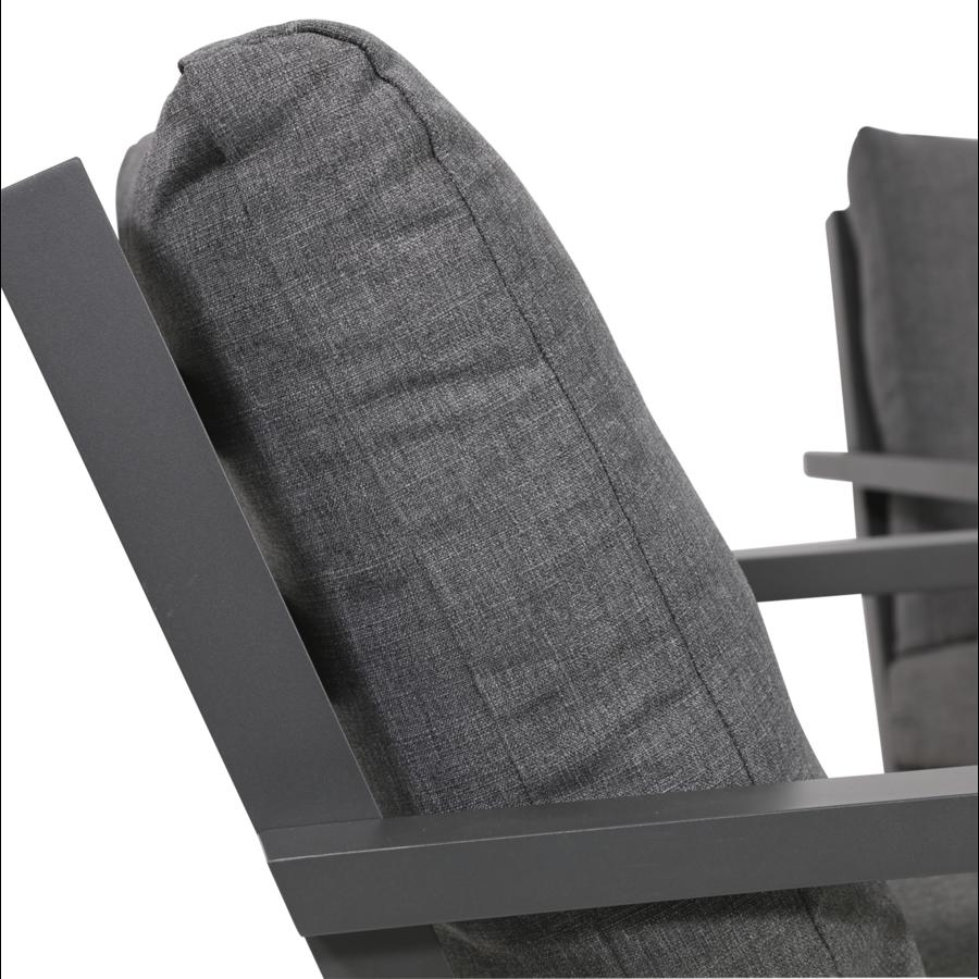 Lounge Tuinstoel - Down Town – Antraciet - Aluminium – Lesli Living-4
