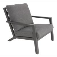 thumb-Lounge Tuinstoel - Down Town – Antraciet - Aluminium – Lesli Living-2