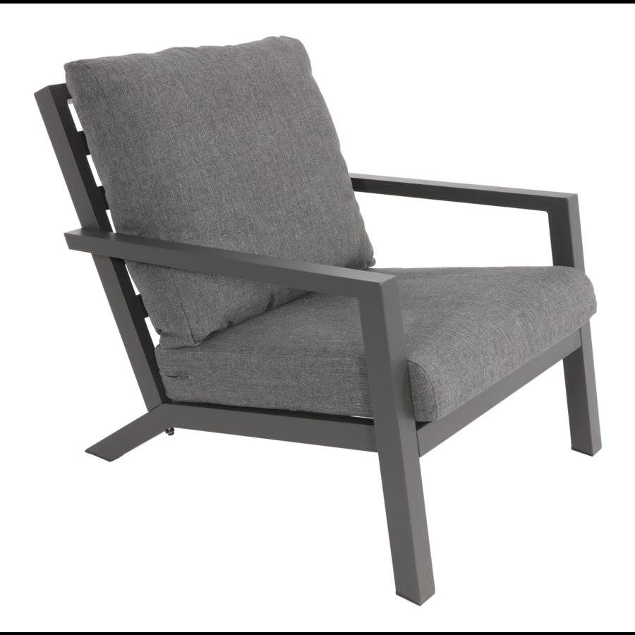Lounge Tuinstoel - Down Town – Antraciet - Aluminium – Lesli Living-2