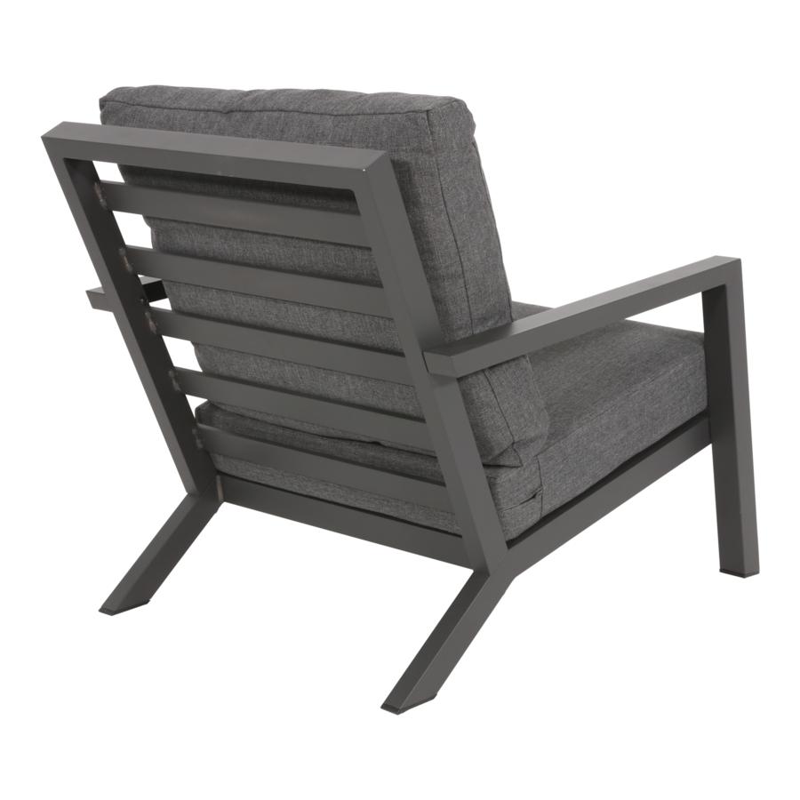Lounge Tuinstoel - Down Town – Antraciet - Aluminium – Lesli Living-6