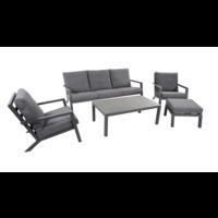 thumb-Lounge Tuinbank - Down Town – Antraciet - Aluminium – Lesli Living-10