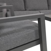 thumb-Lounge Tuinbank - Down Town – Antraciet - Aluminium – Lesli Living-5