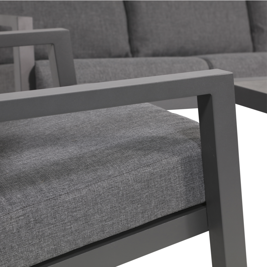 Lounge Tuinbank - Down Town – Antraciet - Aluminium – Lesli Living-5