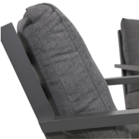 thumb-Lounge Tuinbank - Down Town – Antraciet - Aluminium – Lesli Living-4