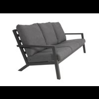 thumb-Lounge Tuinbank - Down Town – Antraciet - Aluminium – Lesli Living-2