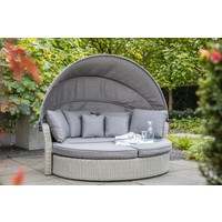 thumb-Zonne Eiland - Wicker - Antraciet - Rond - Lesli Living-3