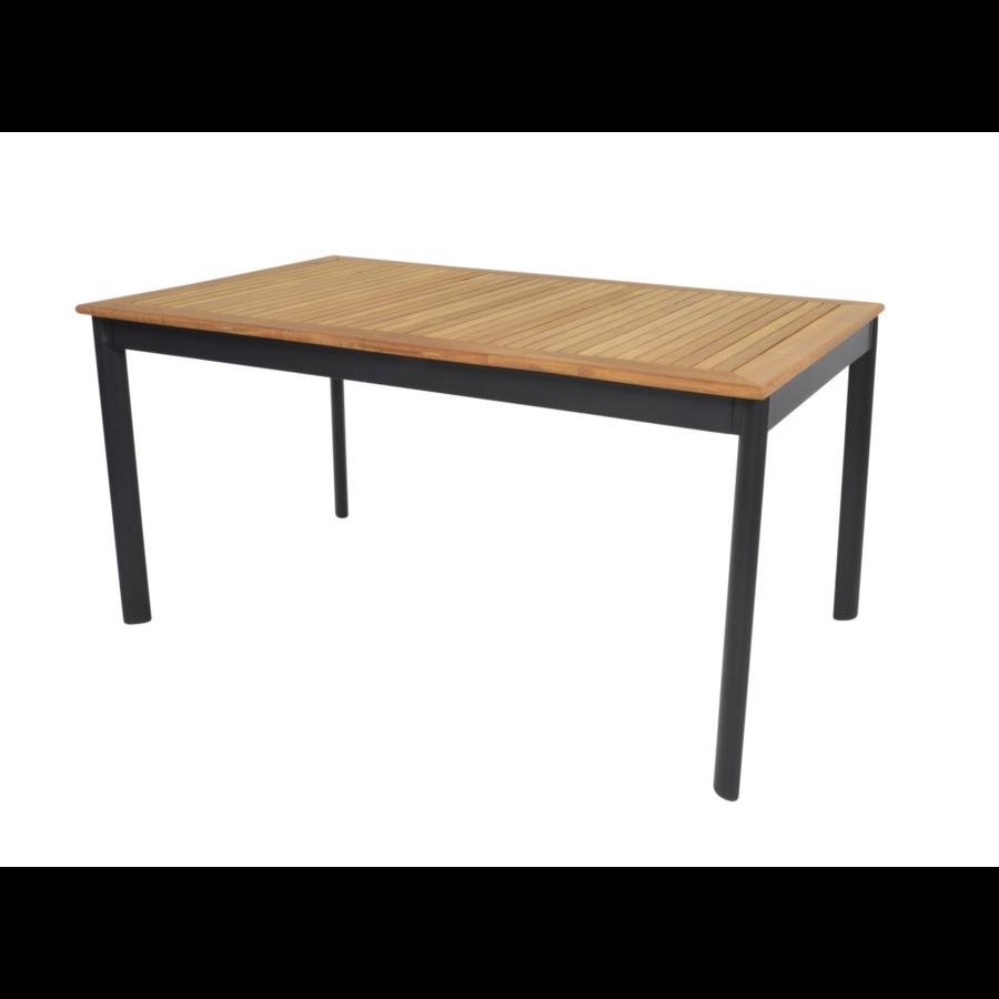 Tuintafel - Monza - Teak - 150x90 cm - Lesli Living-1
