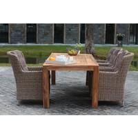 thumb-Dining Tuintafel - Teak - Cancun - 240x100x78 cm - Garden Interiors-4