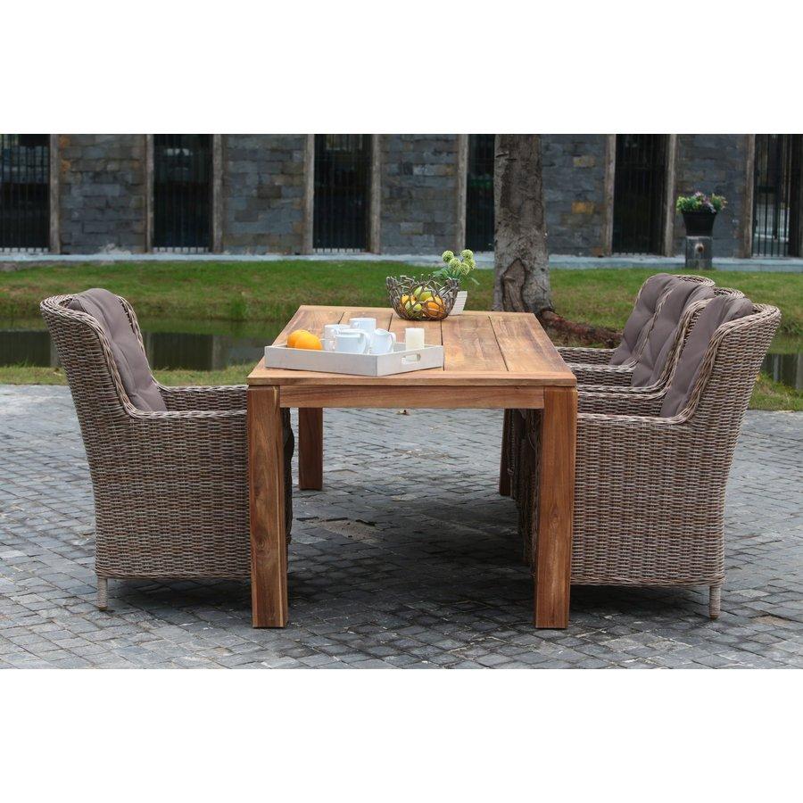 Dining Tuintafel - Acacia - Cancun - 190x100x78 cm - Garden Interiors-3