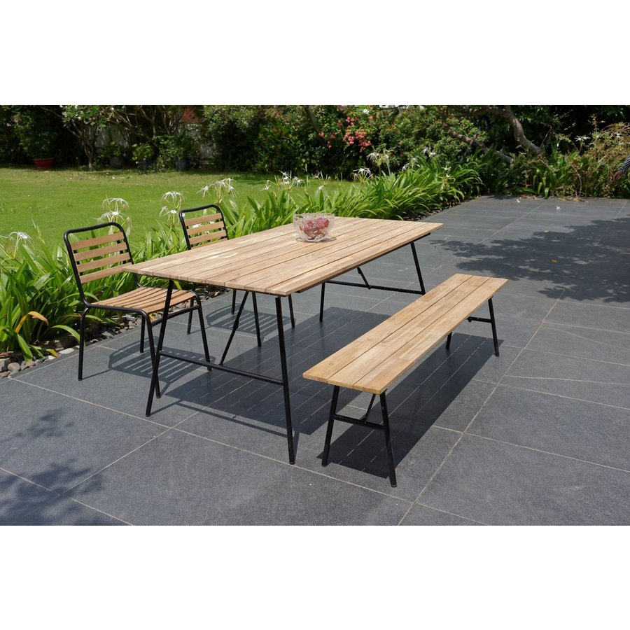 Tuintafel Inklapbaar - Vernon - Acacia - 180x90 cm - Garden Interiors-3