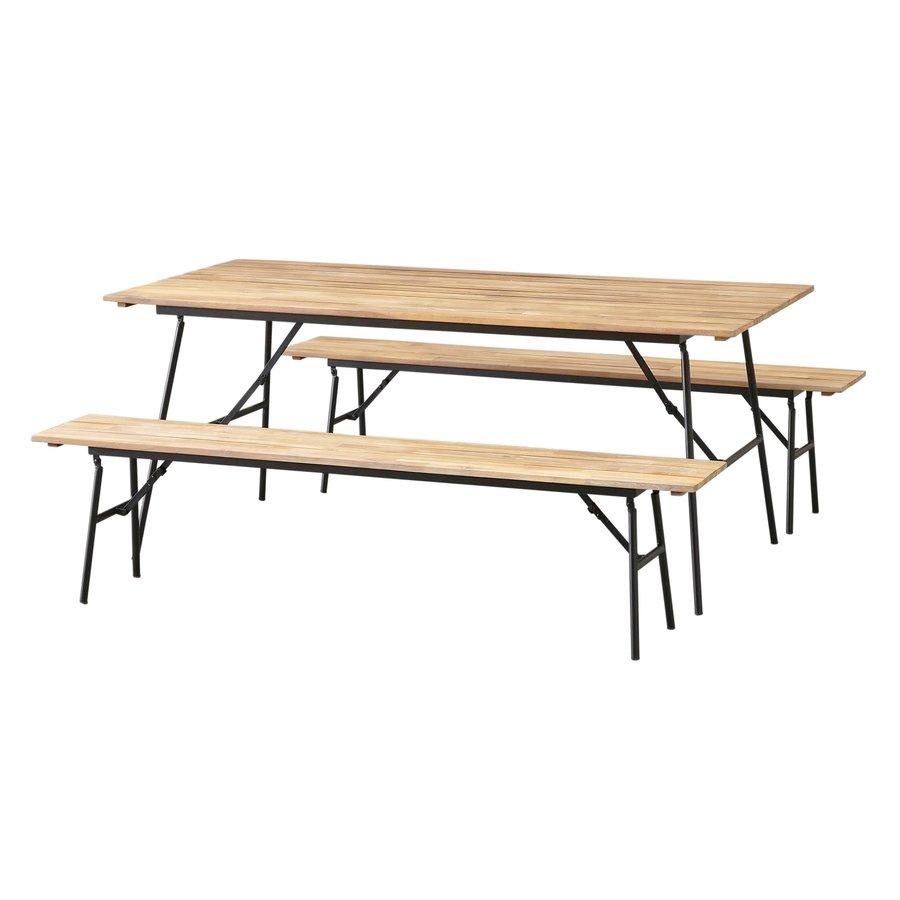Picknickset Inklapbaar - Vernon - Acacia - Garden Interiors-1