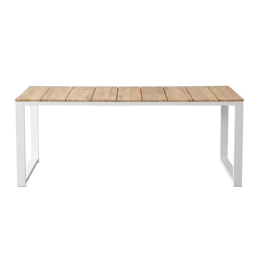 Tuintafel - Melton - Wit - Acacia/Aluminium - 200x100 cm - Garden Interiors-2