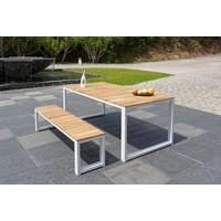 thumb-Tuintafel - Melton - Wit - Acacia/Aluminium - 200x100 cm - Garden Interiors-3