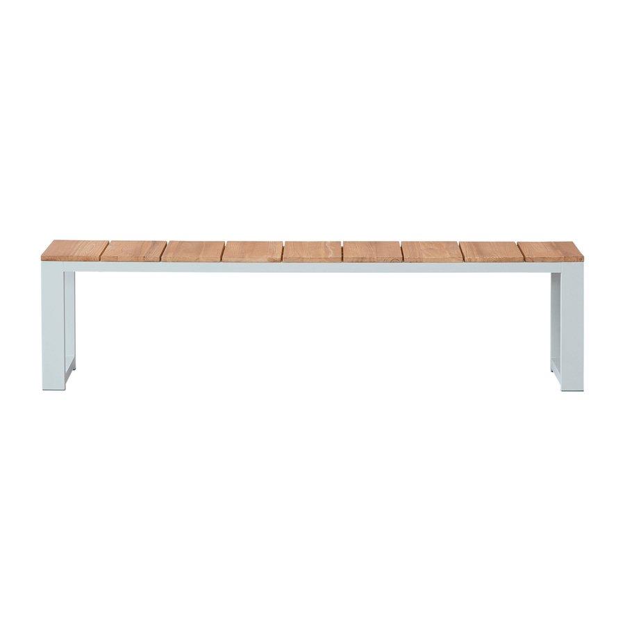 Picknickbank - Melton - Wit - Aluminium - 180x40 cm - Garden Interiors-2