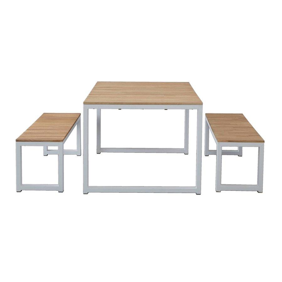 Picknickset - Melton - Wit - Acacia/Aluminium - Garden Interiors-2